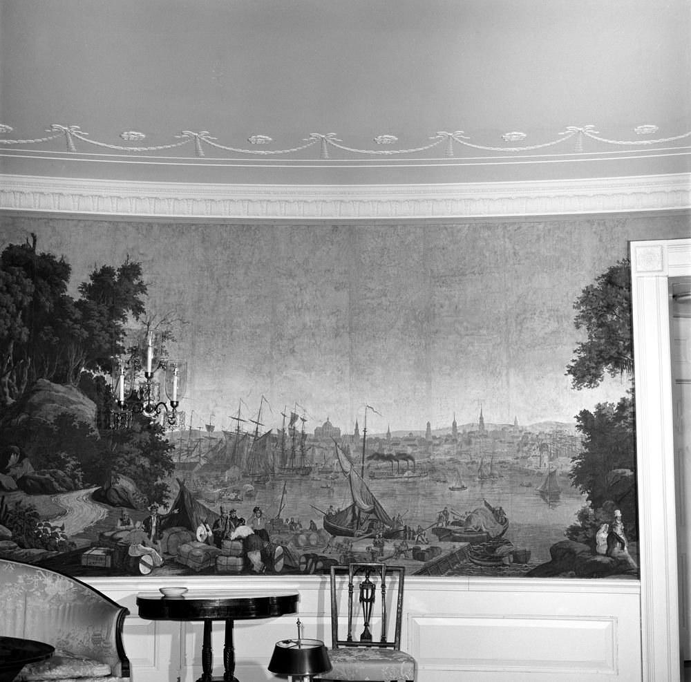 The Diplomatic Reception Room's Historic Wallpaper - White ... on davis house, haynes house, shady house, johnson house, kendrick house, lutz house, hanson house, the first house, prince house,