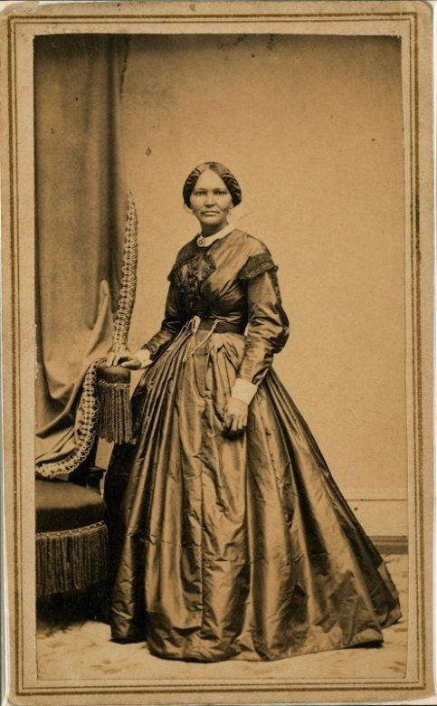 A photograph of Elizabeth Keckley, circa 1861.
