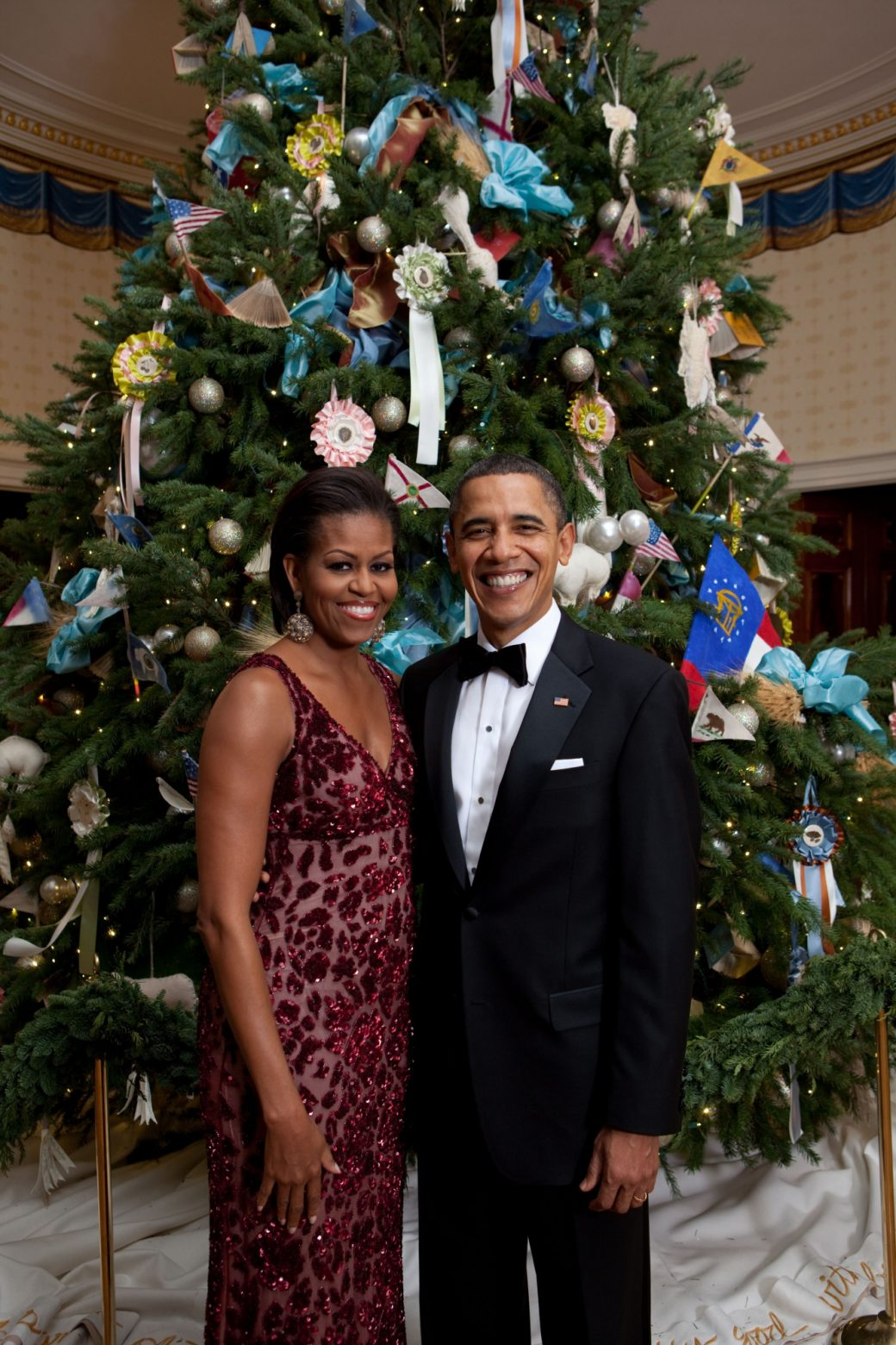Obama Christmas.Christmas Themes Michelle Obama Celebrates With The