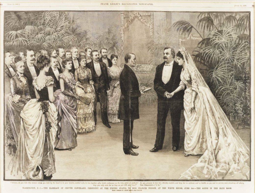 Grover Cleveland And Frances Folsom Are Married In The Blue