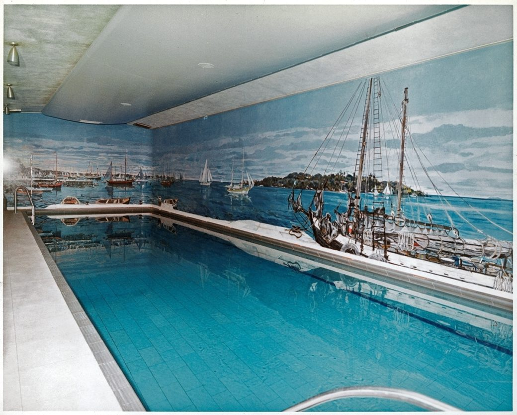 White House Swimming Pool During Kennedy Administration White